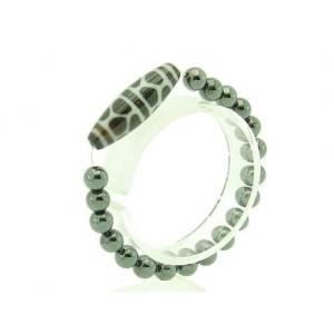 Tortoise Shell Longevity Dzi with 8mm Hematite Bracelet1