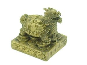 Wealth Dragon Tortoise on Gold Coins1