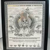 White Umbrella Goddess Plaque