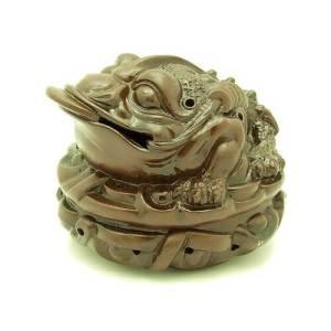 Zisha Clay Money Frog Incense Burner1