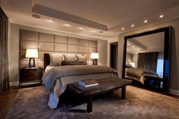 mirror facing bed