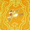 10Crt Gold Thread Silk Embroidered Bird With Sau Mat2