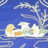 10Crt Gold Thread Silk Embroidered Mandarin Ducks Mat (Blue)2