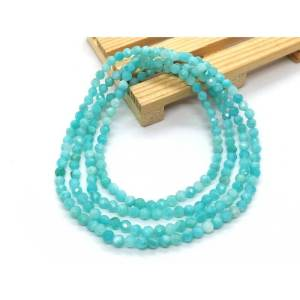 Amazonite Faceted Beads 4-Round Bracelet 天河石