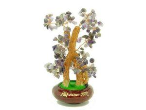 Amethsyt Quartz Crystal Feng Shui Gem Tree1