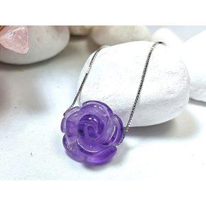 Amethyst Rose Crystal Pendant1