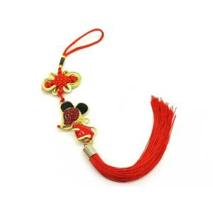 Bejeweled Prosperity Rat Hanging (REDPINK)1