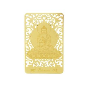 Bodhisattva for Sheep & Monkey (Vairocana) Printed on a Card in Gold1
