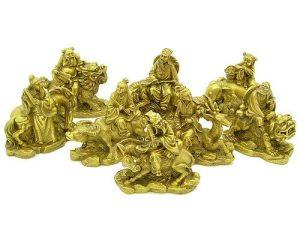 Brass Eight Immortals With Auspicious Animals1