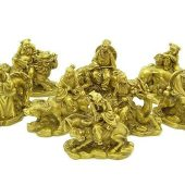 Brass Eight Immortals With Auspicious Animals1