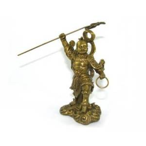 Brass Nazha Statue - Lazha San Tai Zhi - Taoism 哪吒1