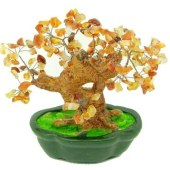Brown Agate Crystal Gem Tree(Big)1