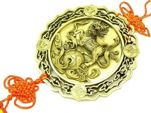 Chi Lin With Mystic Knot Good Luck Talisman1