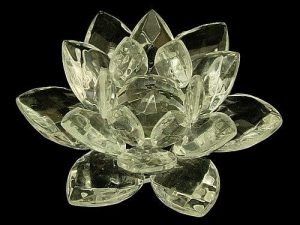 Clear Crystal Lotus Blossom Flower - 30mm1