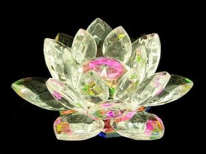 Clear Crystal Lotus Blossom Flower1