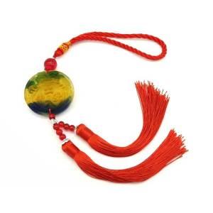 Colorful Liuli Piyao Biting Coin Tassel - Pi Xiu, Pixiu, Pi Yao, Pi Chiu1
