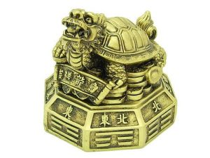 Dragon Tortoise On A Bed Of Treasures And Bagua1