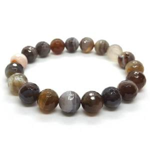 Faceted Botswana Agate Crystal Bracelet1