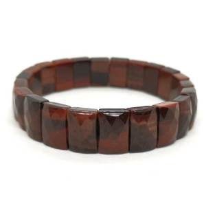 Faceted Rectangular Red Tiger Eye Crystal Bracelet1