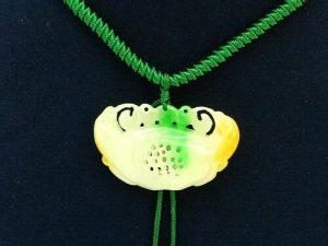 Fuk Luk Sau Jade Medallion Lock Pendant Necklace1