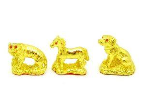 Golden Three Zodiac Buddies - Tiger, Horse & Dog1