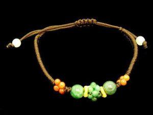 Jade Beads Cluster Bracelet1