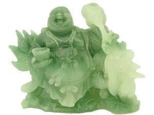 Laughing Buddha Feeding Good Fortune Dragon1