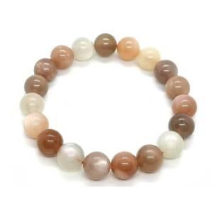 Mixed Colors Moonstone Bracelet 彩月光石1