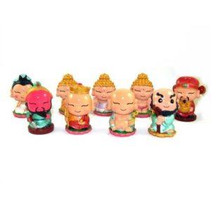 Nine Cute Mini Gods and Deities Figurines1