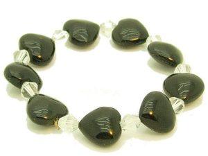 Obsidian Hearts Bracelet1
