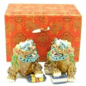 Porcelain Fu Dogs For Literary Luck1