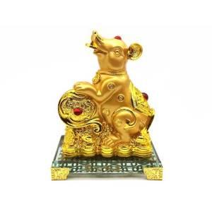 Prosperity Golden Rat with Ruyi1