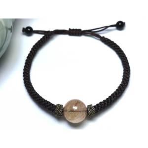 Rutilated Quartz Bead Adjustable Crystal Bracelet
