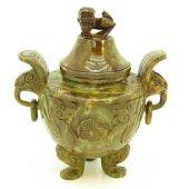 Sau Shan Stone Pi Yao Antique Style Incense Burner1