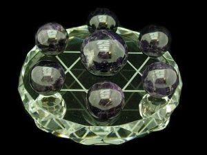 Star Of David With Seven Amethyst Crystal Balls (30Mm, 20Mm)1