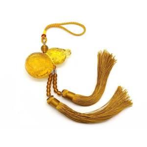 Yellow Liuli Feng Shui Wulou Tassel - Wu Lou Good Health1