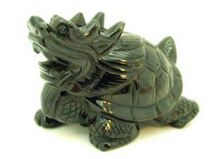Obsidian Crystal Fengshui Dragon Tortoise (L)