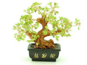 Prosperity Feng Shui Peridot Crystal Tree