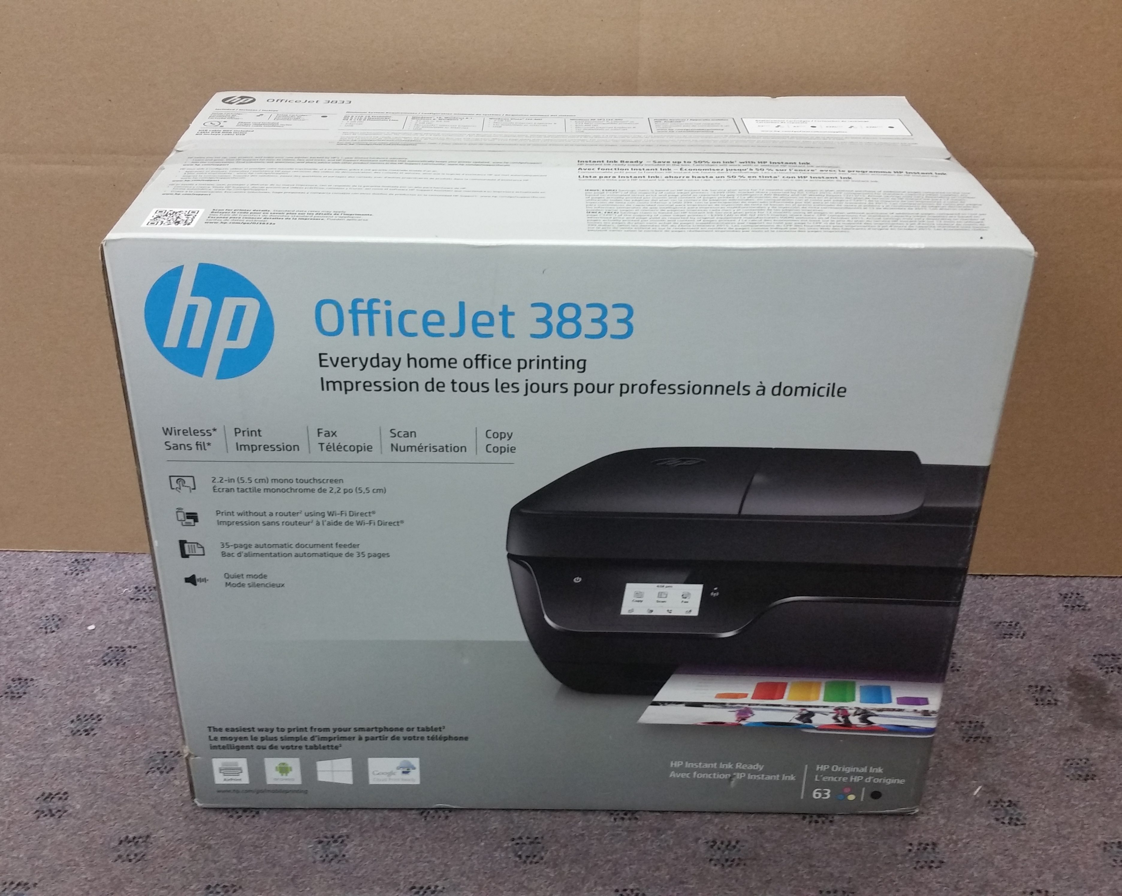 Hp Officejet 3833 Inkjet Mfp Printer New In Box Buy Sell