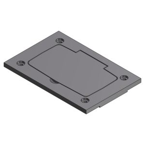 STEEL CITY P64PURCGRY Floor Outlet Box Cover Plates
