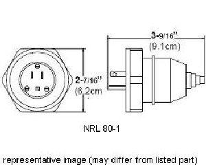 EATON CROUSE-HINDS SERIES NRL80-1 Straight Blade Plugs
