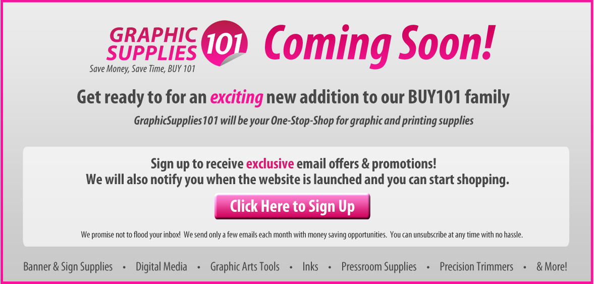 GraphicSupplies101 is coming soon!