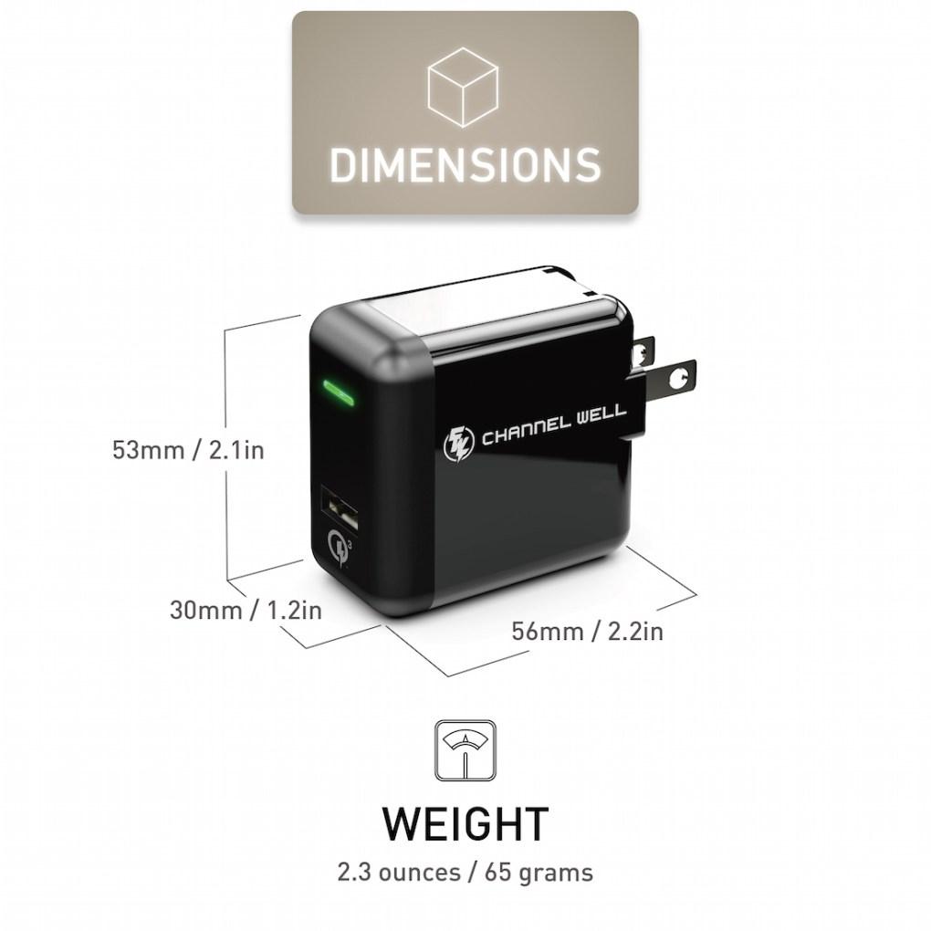 僑威 QC 3.0 快速充電器 充電速度提高 80%! - QC3.0 USB Wall Charger White 07