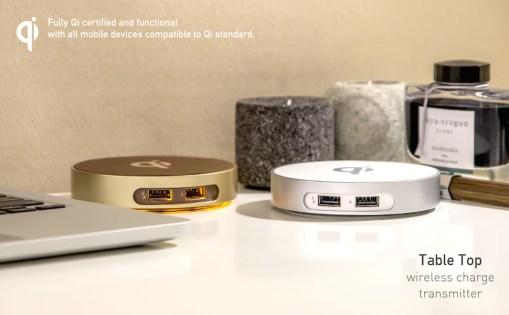 僑威雙USB孔無線充電器 告別桌面雜亂的線材 - TableTop Wireless charger 970 600 01