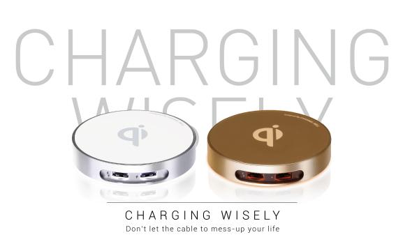 僑威雙USB孔無線充電器 告別桌面雜亂的線材 - WCD
