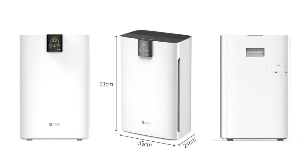 BRISE C360 防疫級空氣清淨機 (專為嬰幼兒健康設計) - C360機身大小