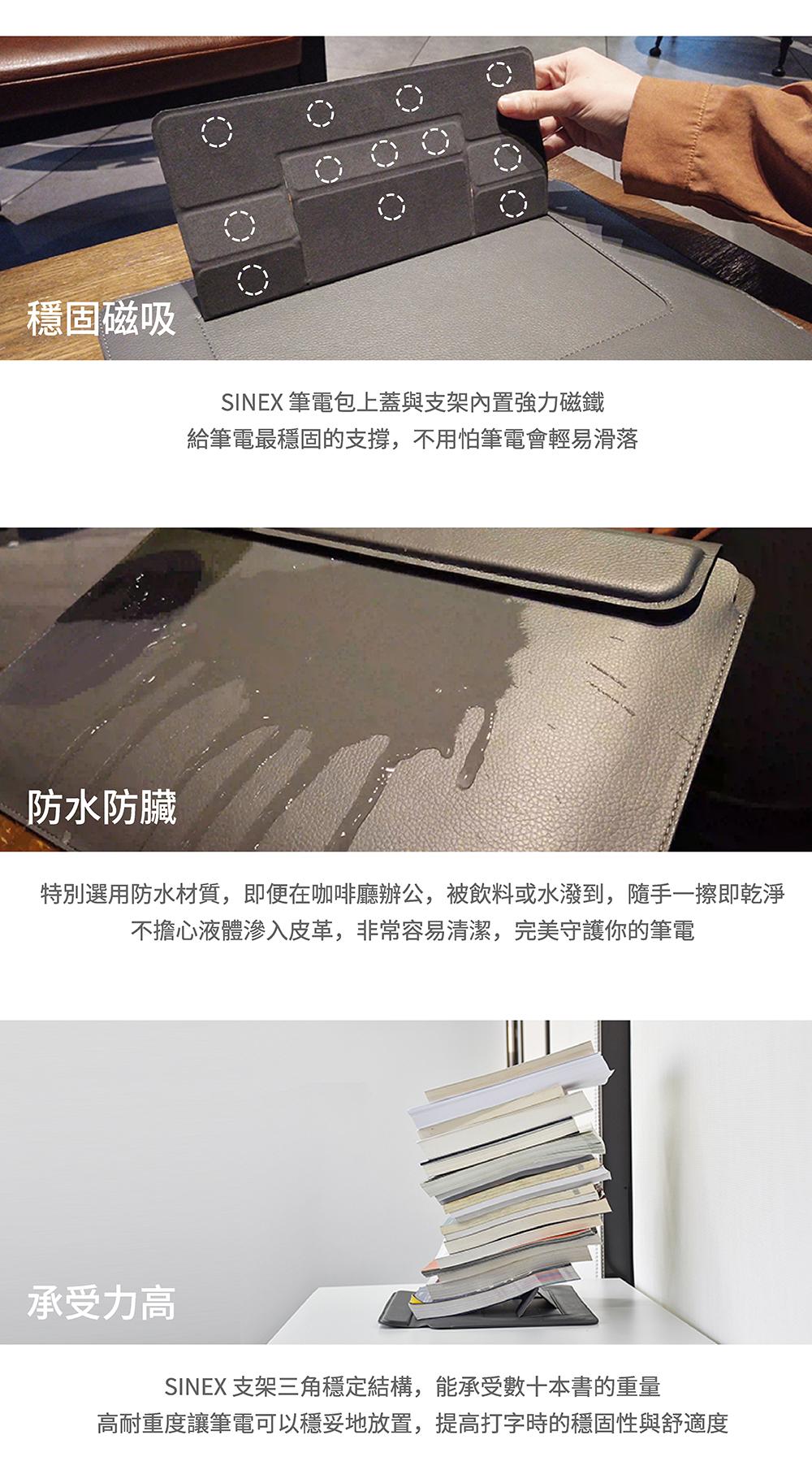 【SINEX】全球首款 3 合 1 變形筆電包 適用13/14吋筆電 (收納包+筆電架+鍵盤手托) - SINEX電腦包簡介 07
