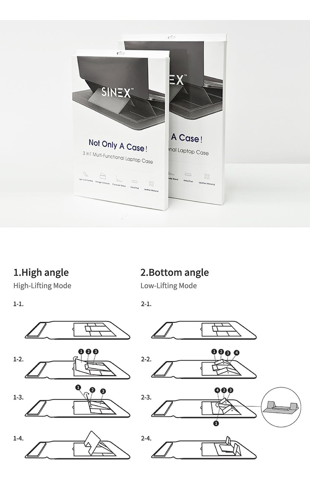 【SINEX】全球首款 3 合 1 變形筆電包 適用13/14吋筆電 (收納包+筆電架+鍵盤手托) - SINEX電腦包簡介 10