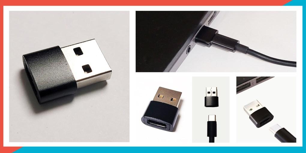USB-C 轉 USB-A 轉接頭(適用於 OmiPlay 遊戲影音傳輸器) - usb m 00