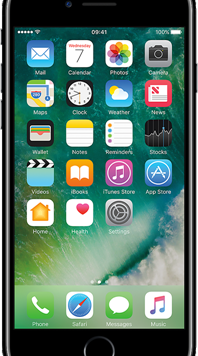 Apple iPhone 7 (32GB Jet Black Used Grade A) at £49.00 on Red (24 Month(s) contract) with UNLIMITED mins; UNLIMITED texts; 2000MB of 4G data. £26.00 a month.